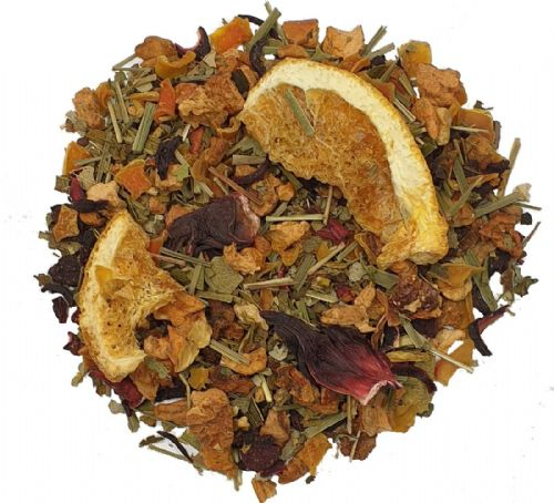 Orange Hibiscus Wellness Pure Dried Caffeine-Free Herbal Tea Infusion in Assorted Packs